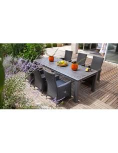 Table de jardin Fiero 240 x 103 cm Aluminium brossé - Proloisirs