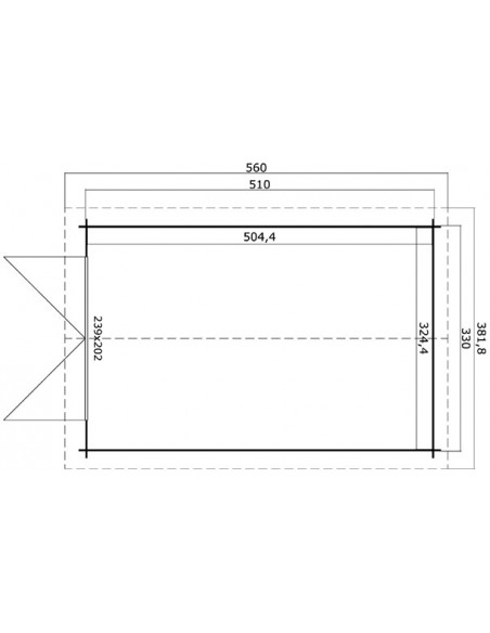 Garage Mauritius 16.8 m² en bois massif 28 mm