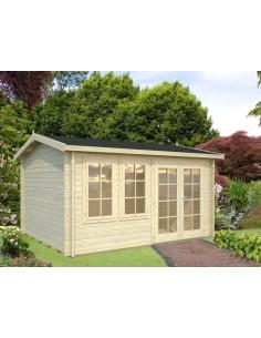 Abri de jardin Iris 11.7 m² avec plancher - Bois massif 44 mm
