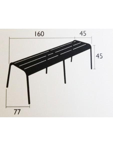 Banc XL 4 places Monceau métal 160 cm - Fermob