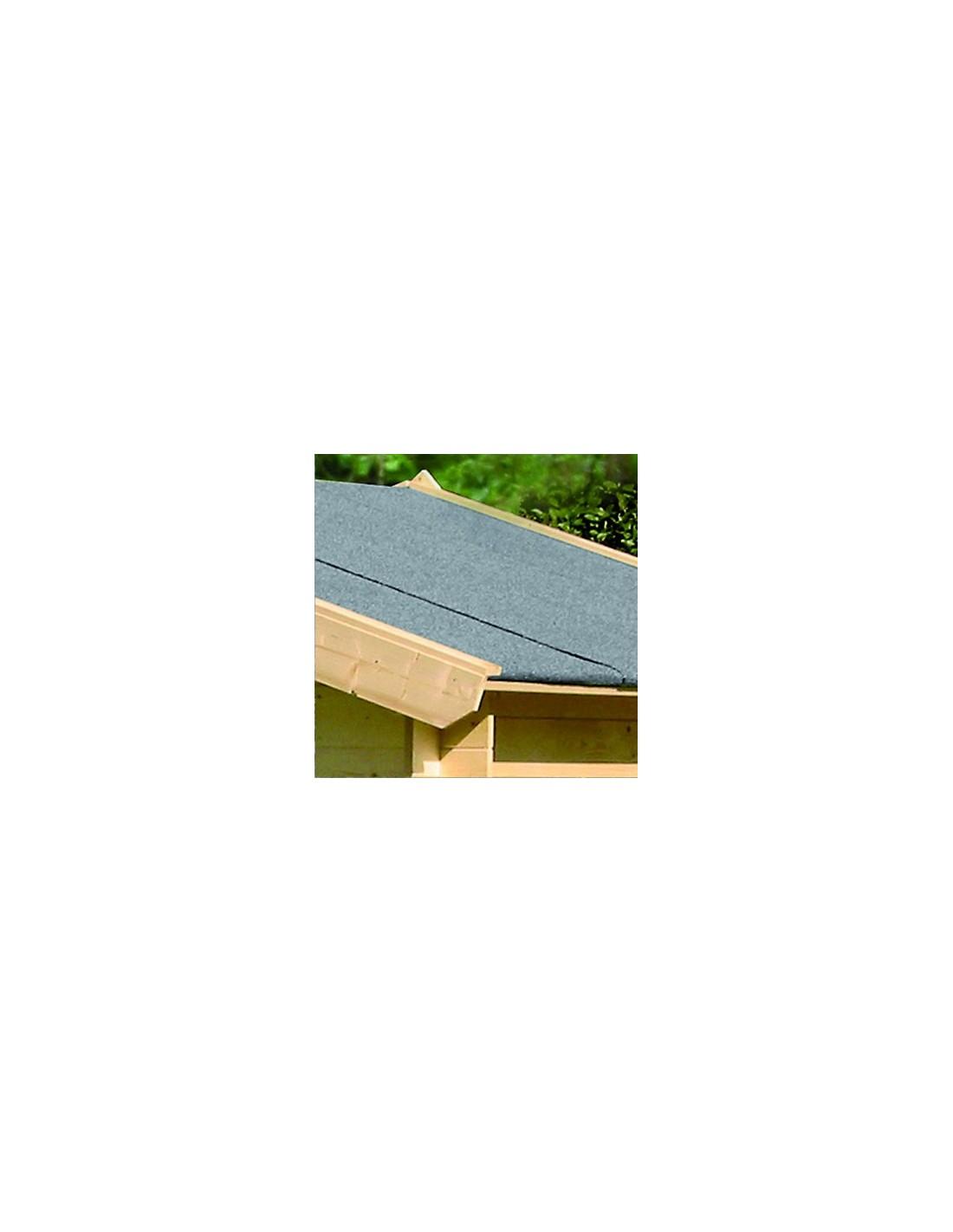 Couverture de toit bitum e noire dimensions au choix - Couverture toit abri de jardin ...