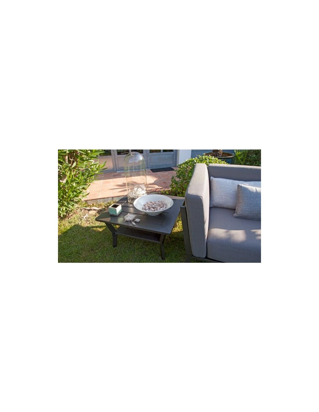 Sofa table basse Latino en aluminium 66 x 66 cm - Proloisirs