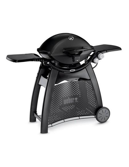 Barbecue à gaz Q 3200 Noir avec chariot et lampe - Weber