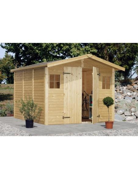 Abri de jardin dan 7 7 m avec plancher serres et abris - Abri de jardin avec plancher ...