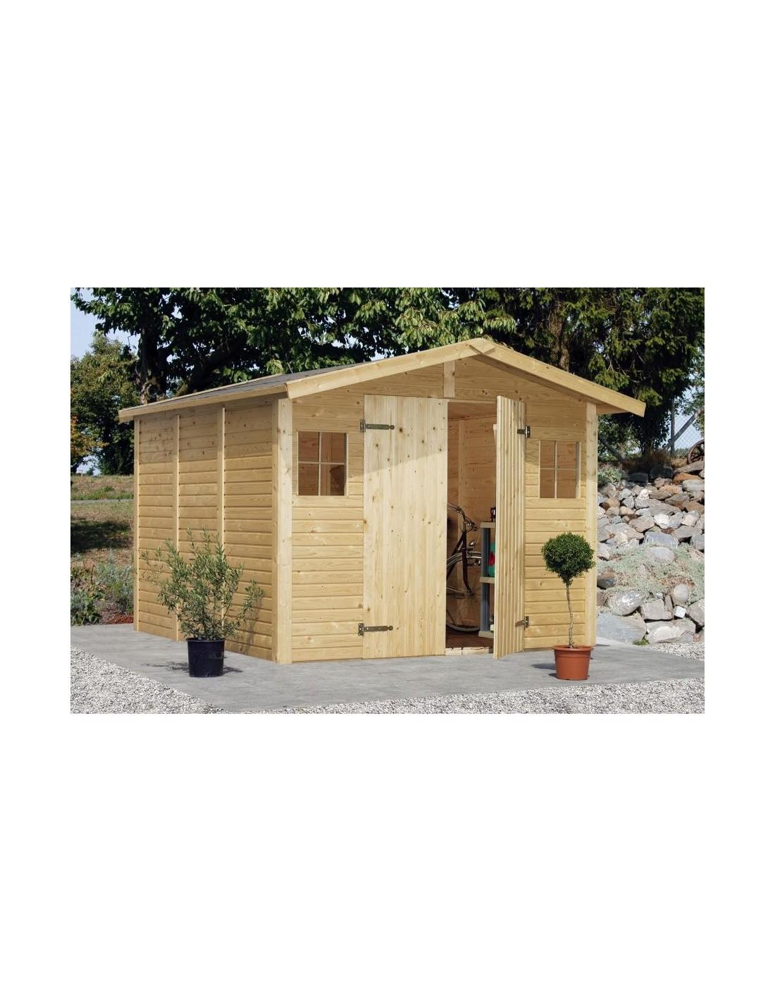Abri de jardin dan 7 7 m avec plancher serres et abris - Abris de jardin avec plancher ...