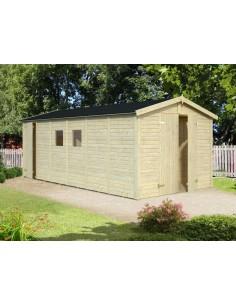 Abri de jardin Dan 14.2 m² avec plancher