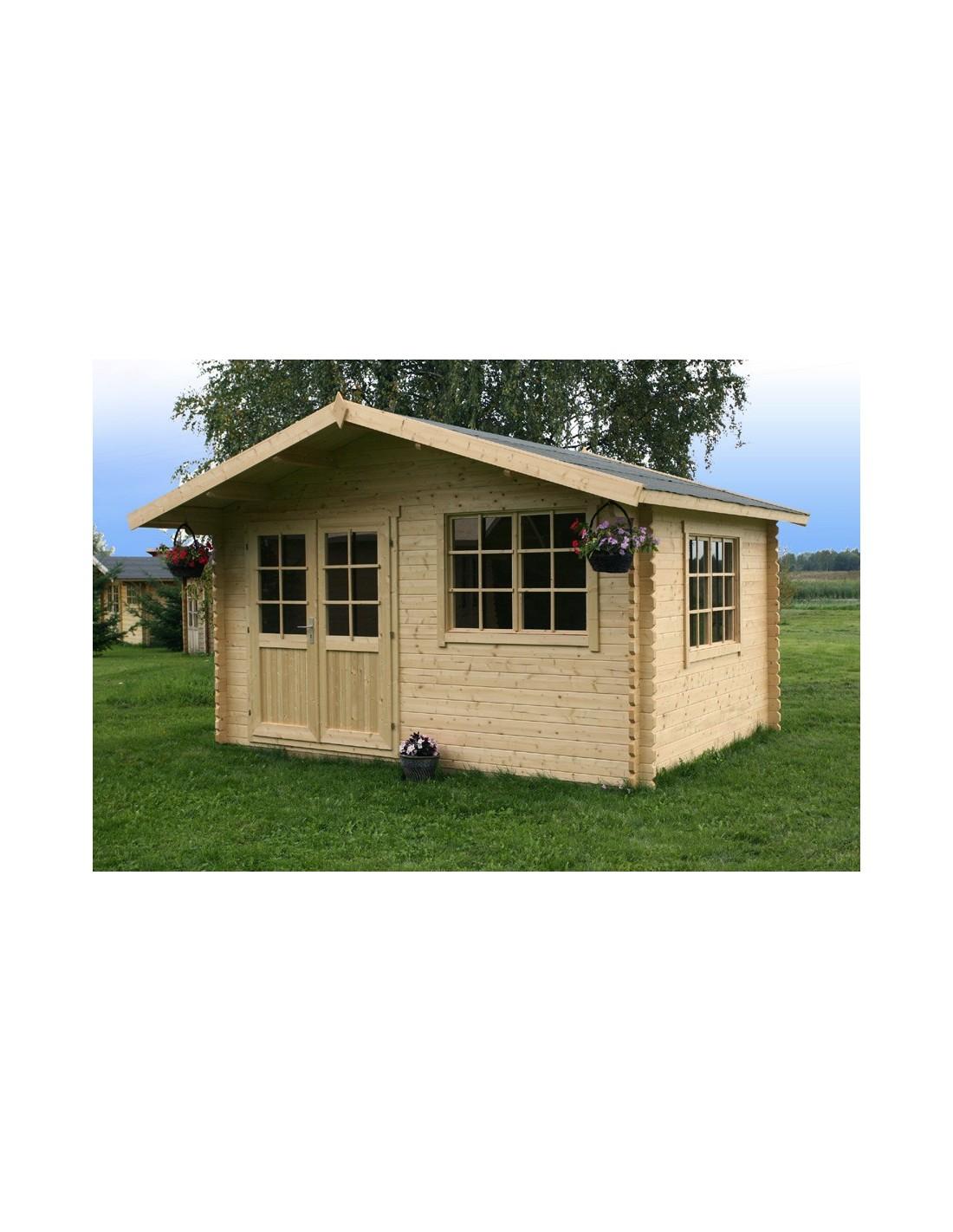 abri de jardin norderney 11 7 m en bois 40 mm serres et. Black Bedroom Furniture Sets. Home Design Ideas