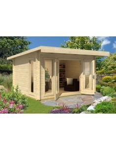 Abri de jardin Barbados 12.3 m² avec plancher - Bois massif 44 mm