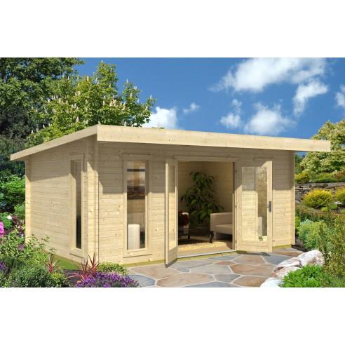 abri de jardin barbados 17 6 m avec plancher bois massif 44 mm. Black Bedroom Furniture Sets. Home Design Ideas