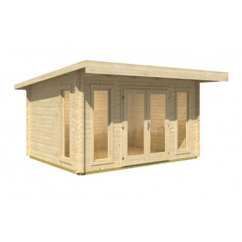 Abri de jardin Barbados 17.6 m² avec plancher - Bois massif 44 mm