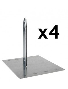 Kit de 4 scellements pour portique bois, métal et tour de jeux