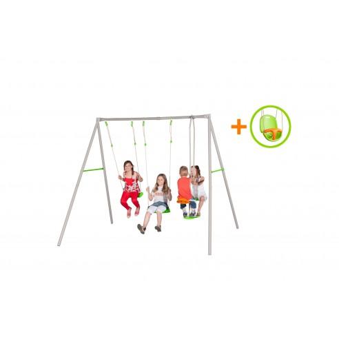 Portique Paul métal 2.2 m + siège bébé offert !
