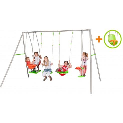 Portique Luca métal 2.20 m + 1 siège bébé offert ! - Enfants 3/12 ans
