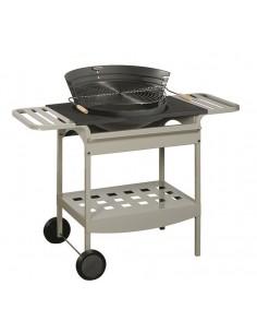 Barbecues fonte SHOGUN chariot ∅ 50cm - à bois et charbon - Invicta