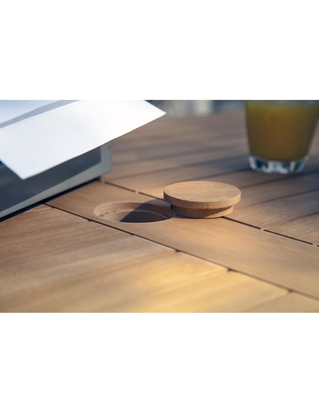 Awesome salon de jardin en bois d eucalyptus photos - Table jardin pliante bois ...