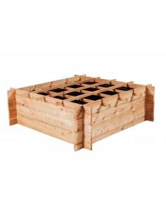 Potager Vercors en bois naturel 100x100xH30 cm