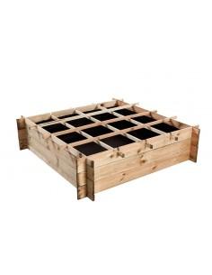 Carré potager Egine en bois 120x120xH30 cm