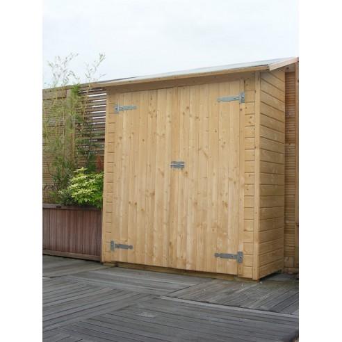 Armoire murale olg avec plancher bois naturel non trait - Armoire bois naturel ...