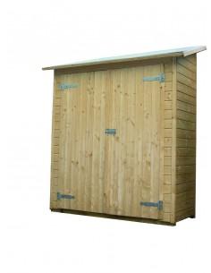 Armoire murale OLG avec plancher - Bois naturel non traité