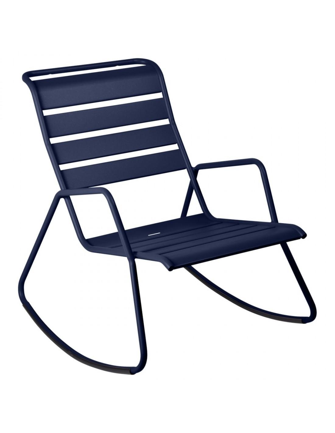 rocking chair d 39 ext rieur monceau m tal bascule fermob