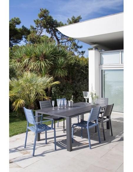 Table Galleo 210x100cm Aluminium et HPL - Proloisirs