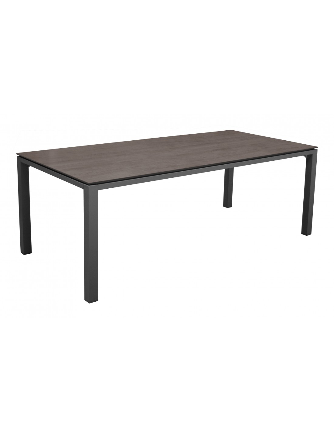 table de jardin stoneo 210 cm en aluminium et plateau hpl proloisirs. Black Bedroom Furniture Sets. Home Design Ideas