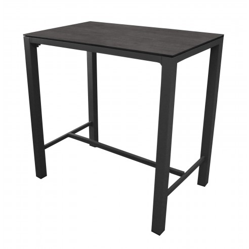 Table haute stoneo d 39 ext rieur aluminium et plateau hpl for Table exterieur hpl