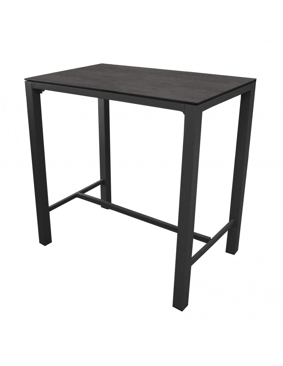 Table haute stoneo d 39 ext rieur aluminium et plateau hpl for Plateau table exterieur