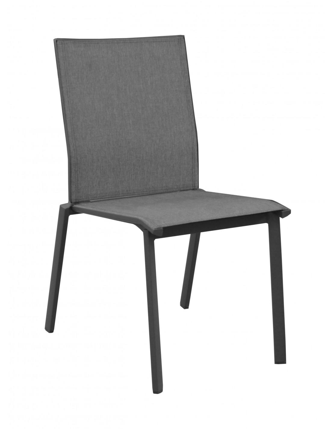 Chaise De Jardin Empilable Palma En Aluminium Proloisirs