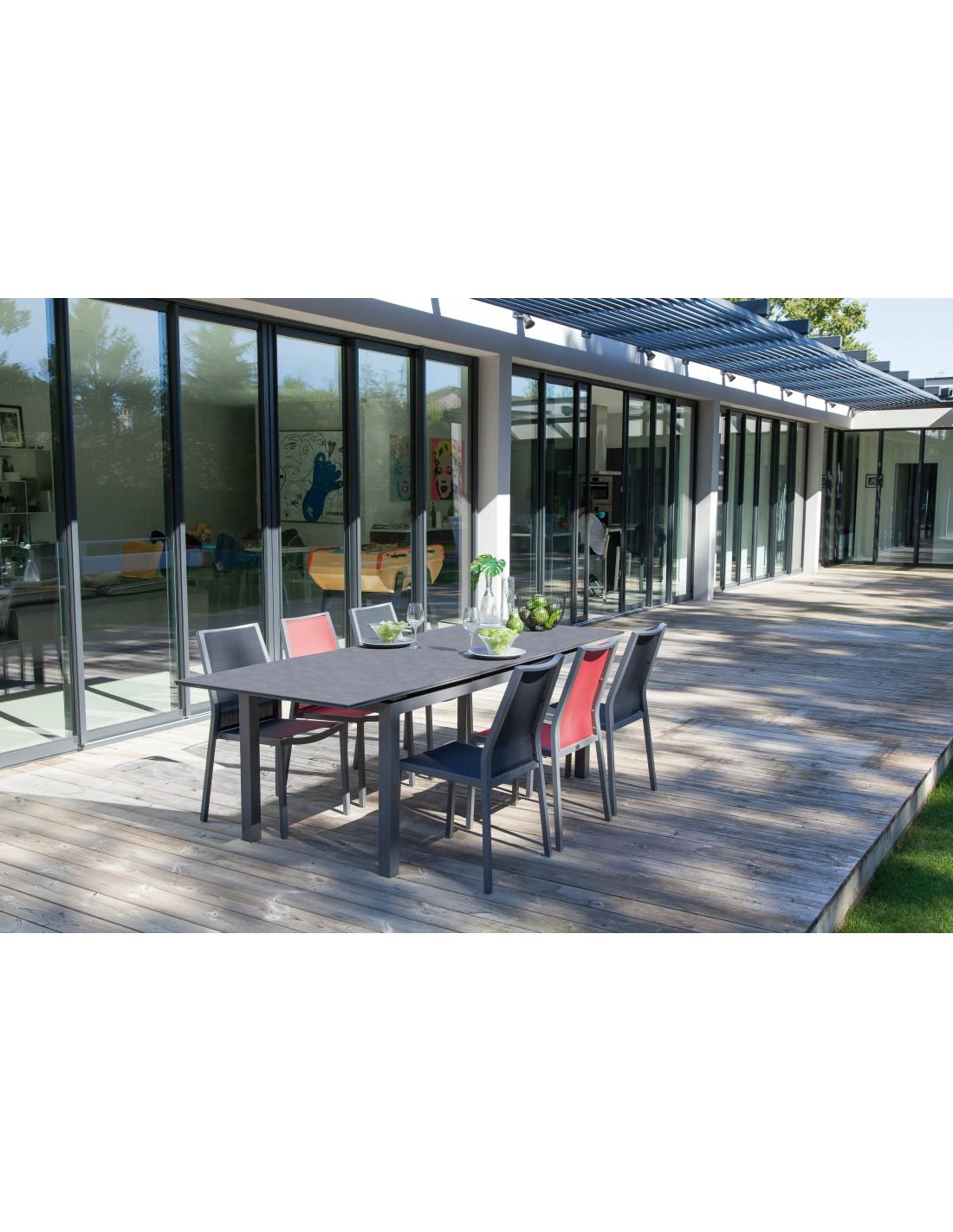 Table de jardin Soto extensible 180/235 cm HPL- Proloisirs
