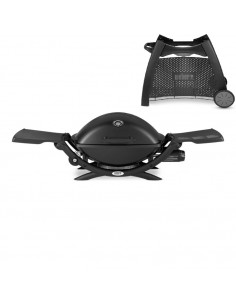 Barbecue à gaz Q2200 Black avec chariot de transport 6526 Weber