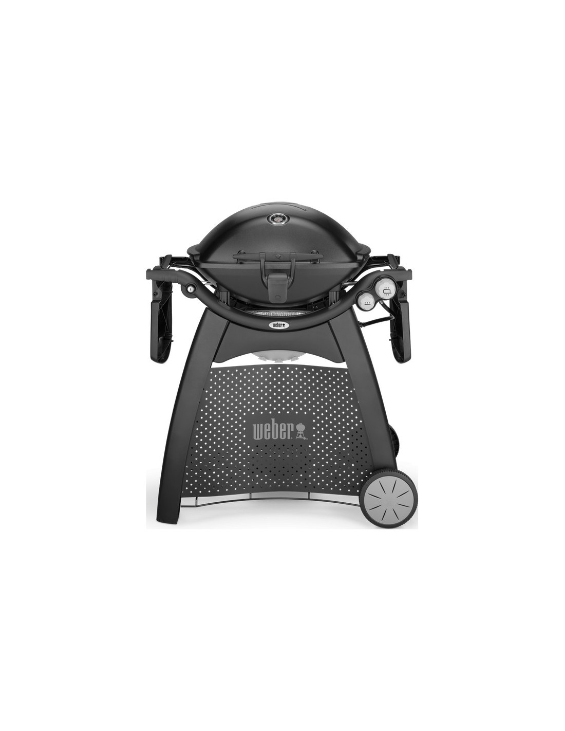 barbecue gaz q3200 black noir avec chariot et plancha weber. Black Bedroom Furniture Sets. Home Design Ideas