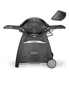 Barbecue à gaz Q 3200 Black noir avec chariot et plancha 6506 Weber