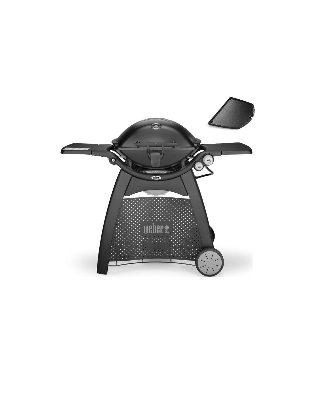 barbecue gaz q3200 black noir avec chariot et plancha weber. Black Bedroom Furniture Sets. Home Design Ideas