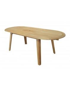 Table de jardin en bois Lola en Teck - Proloisirs