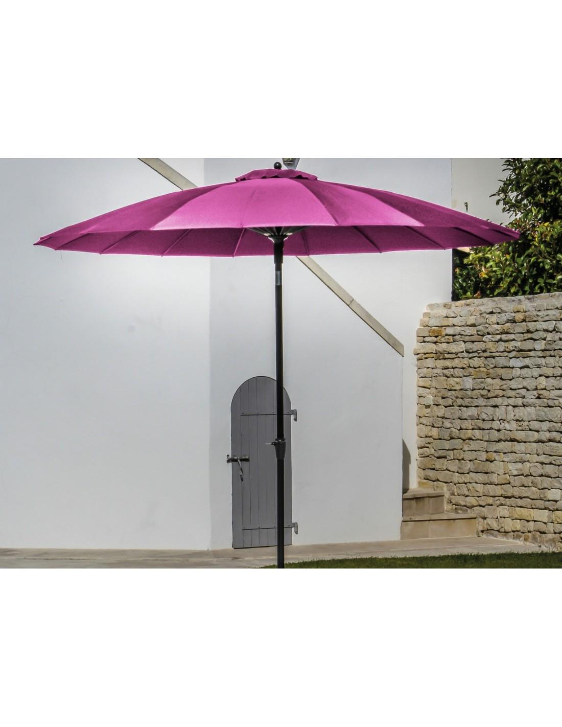 parasol droit rond 300 cm pagode manivelle proloisirs. Black Bedroom Furniture Sets. Home Design Ideas