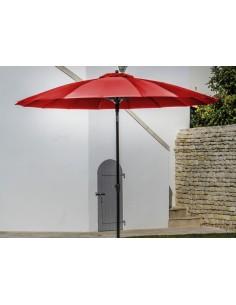 Parasol rond 300 cm droit Pagode à manivelle - Proloisirs