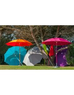Parasol rond fibre de verre 2M70 coloris au choix - Proloisirs