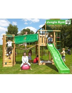 Tour de jeux Lodge bridge Jungle gym+toboggan de 2.65 m