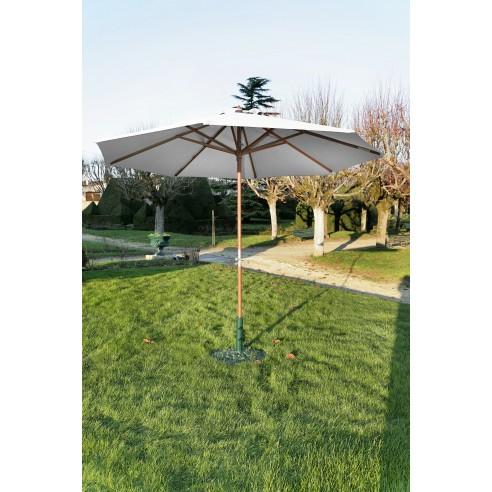 Parasol bois 3 m ouverture à manivelle - Proloisirs