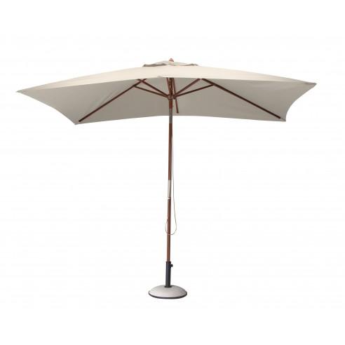 Parasol bois 3 x 2 m ouverture à...