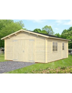 Garage Roger 25 m² au choix - Bois massif  44 mm