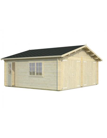 Double garage Roger 30 m² au choix - Bois massif  44 mm