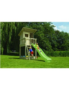 Tour de jeux Beach hut+toboggan de 2.30 m - Blue Rabbit