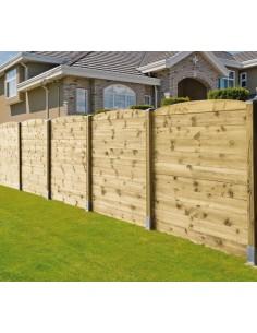 Madrier pour clôture à emboîter 21 ou 28 mm - 2 types au choix