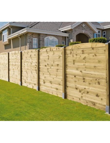 Madrier Iliade pour clôture à emboîter 21 ou 28 mm - 2 types au choix