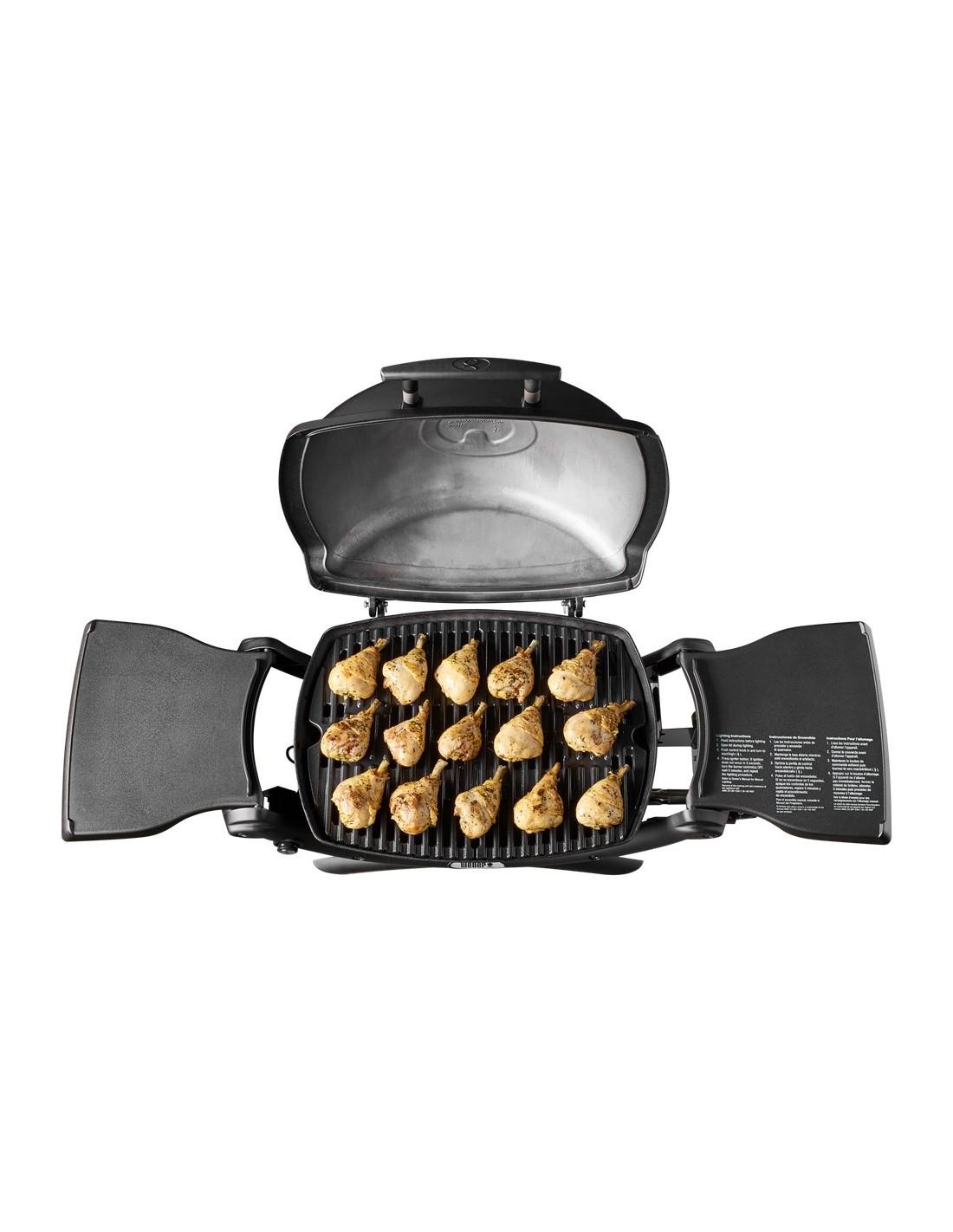 barbecue gaz q1200 black weber avec thermom tre integr. Black Bedroom Furniture Sets. Home Design Ideas