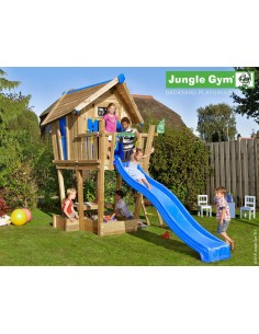 Maisonnette Crazy Playhouse sur pilotis avec toboggan de 2.65 m- Jungle gym