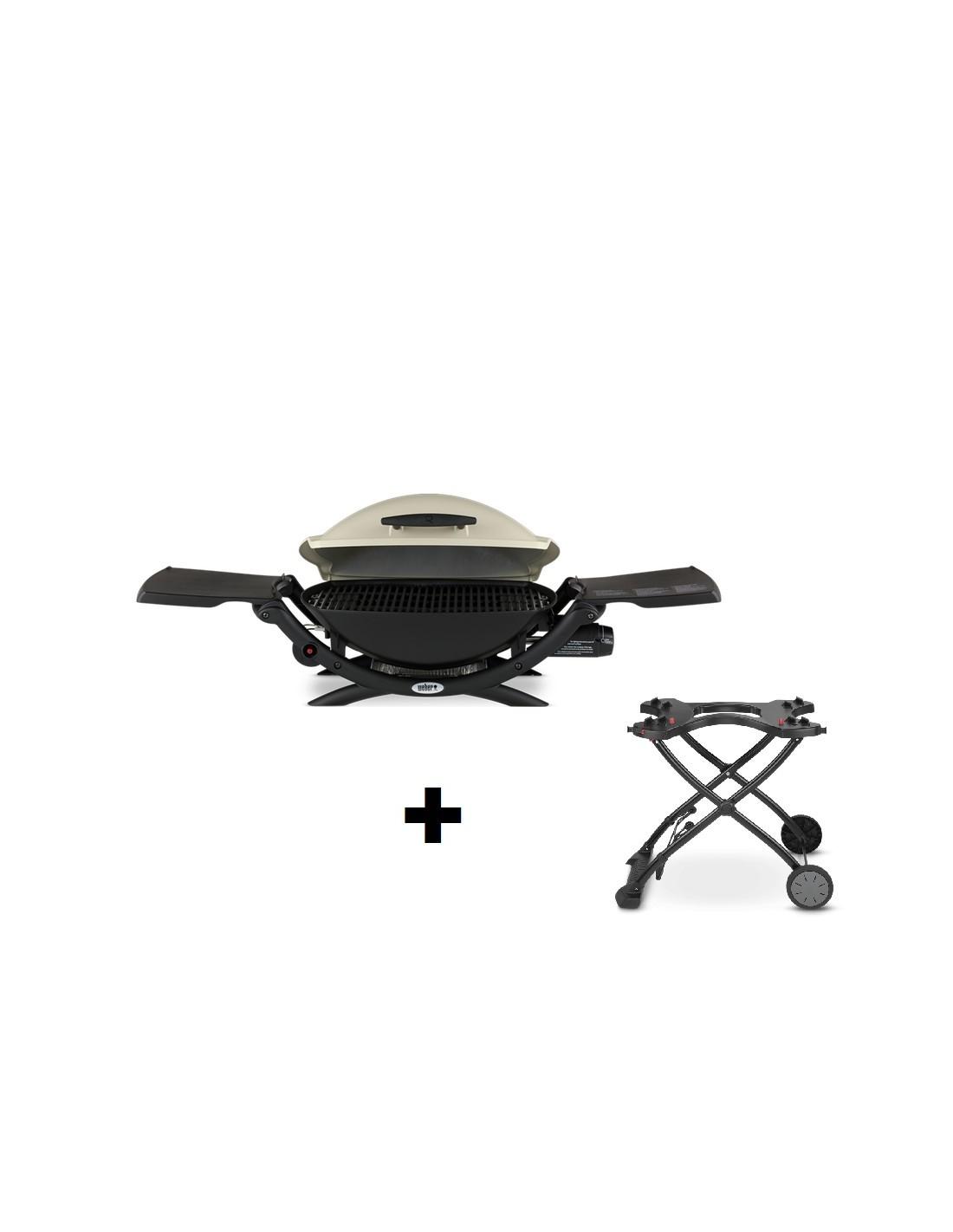 pack barbecue gaz q 2000 titanium weber chariot pliant. Black Bedroom Furniture Sets. Home Design Ideas