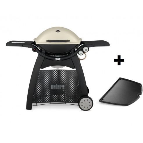 pack barbecue gaz q3000 titanium avec chariot et plancha. Black Bedroom Furniture Sets. Home Design Ideas